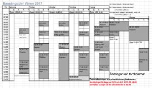 BassängSchema Delphinebadet VT2017