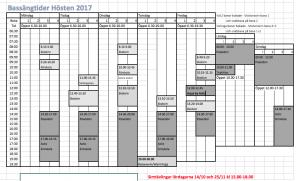 Delphinbadet schema HT 2017