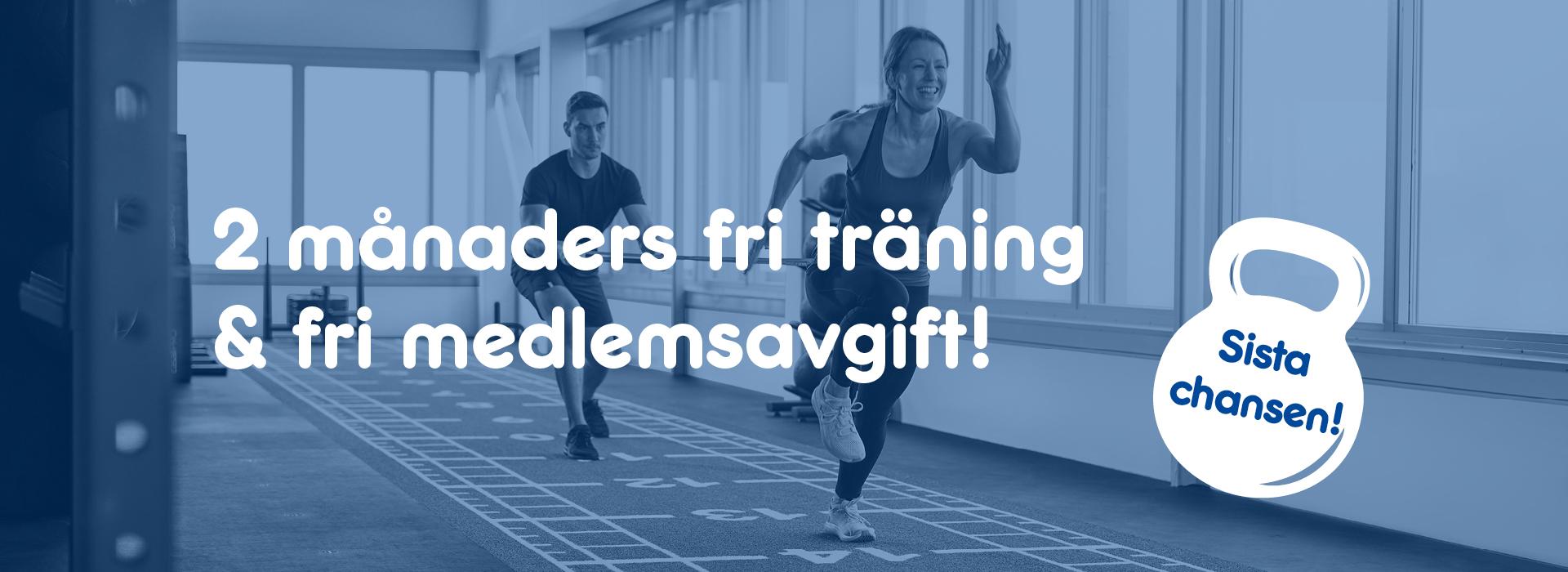 Bli medlem idag och få 2 månader fri träning + fri medlemsavgift!