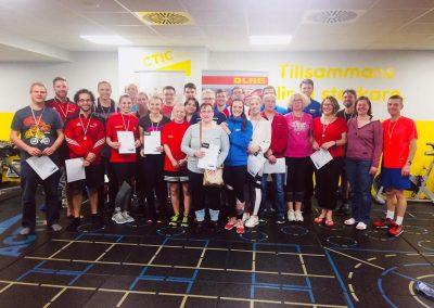 Geschafft - die Teilnehmer des 3.nationalen Indoor Triathlons in Bayreuth